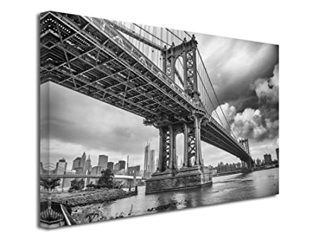Declina Tableau Noir Et Blanc Manhattan Bridge Impression