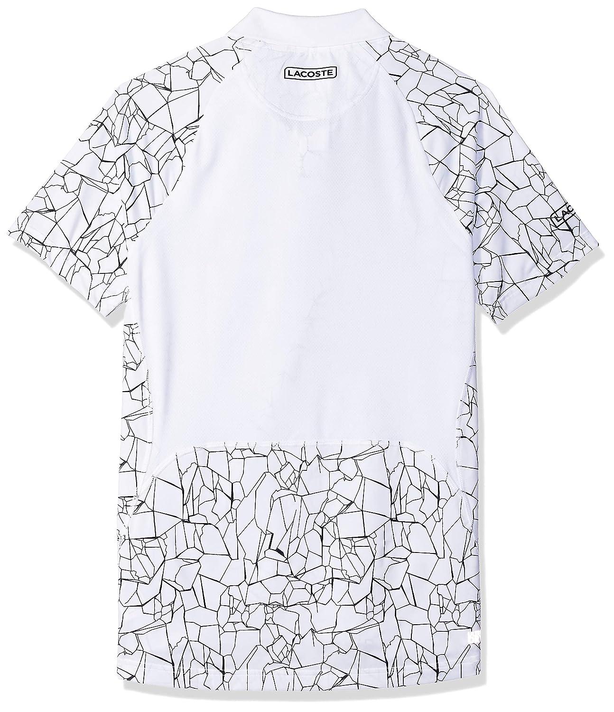 889a0dd02 Lacoste Men s Novak Short Sleeve Ultra Dry Net Print Polo at Amazon Men s  Clothing store