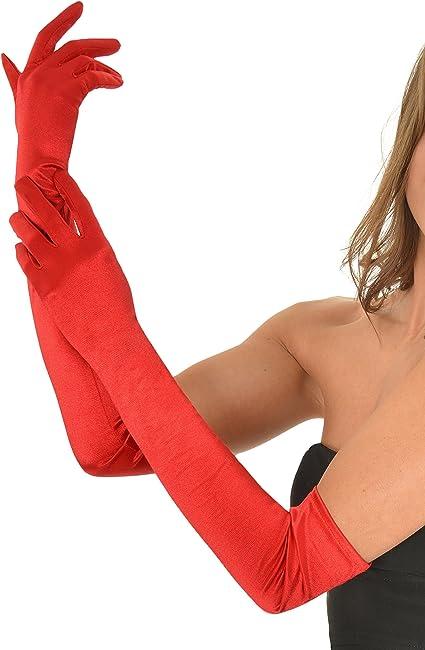Amazon | イブニング手袋サテンオペラグローブペアフォーマル ...