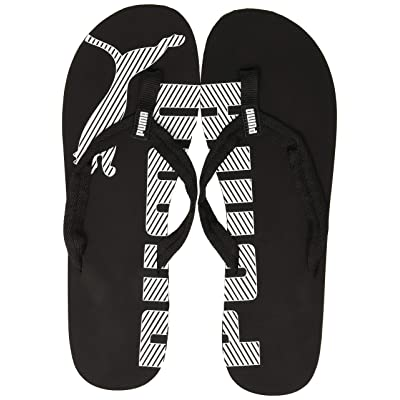 PUMA Epic Flip v2 Unisex Adult Flip Flop, Black (Black/White), 11 UK (46 EU) | Sandals