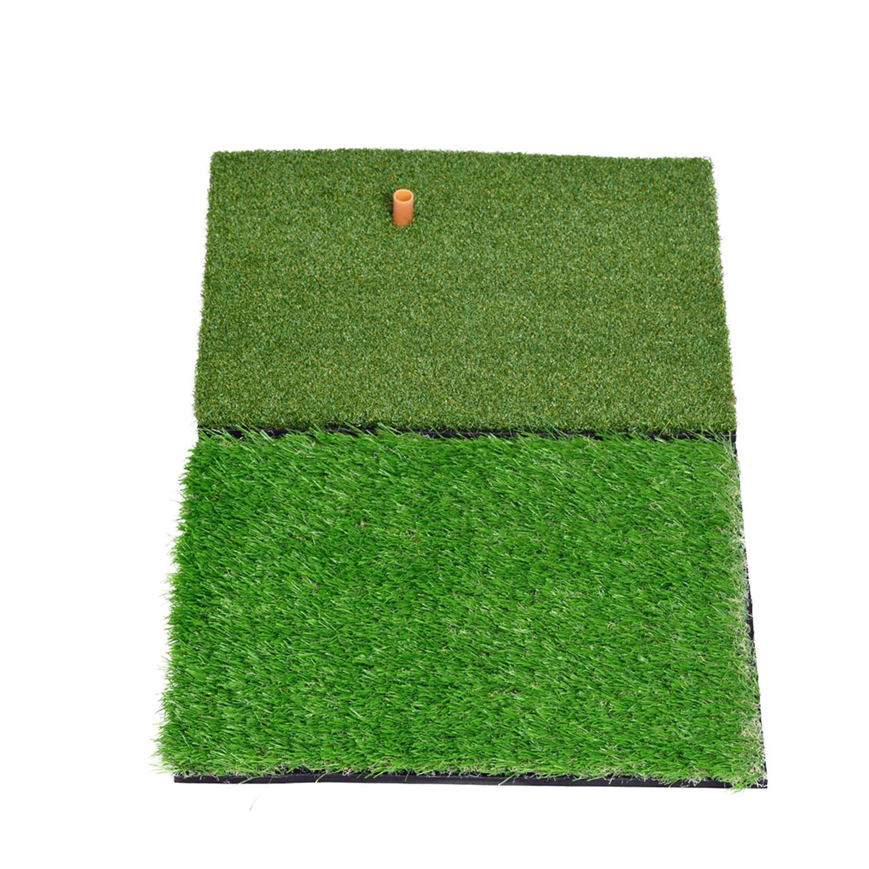 SkyLife Dual-Turf Golf Hitting Grass Mat, Portable Training Fairway Rough Turf, Driving Chipping Golf Equipment, Home Backyard Garage Outdoor Practice (16''x 25'') by SkyLife