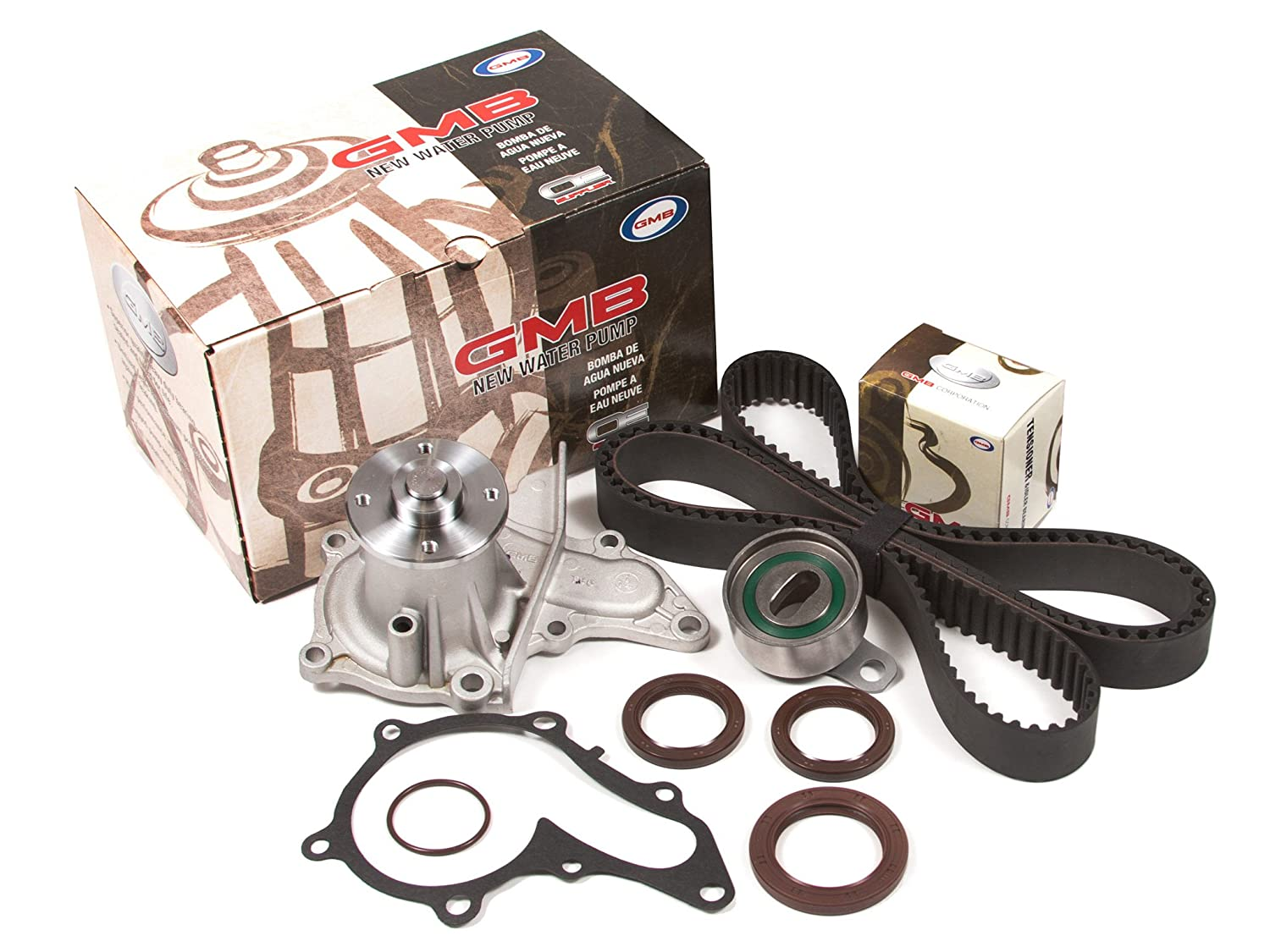 Evergreen TBK235WP Fits 93-97 Toyota Corolla Celica Geo Prizm 1.8L DOHC 7AFE Timing Belt Kit GMB Water Pump Evergreen Parts And Components