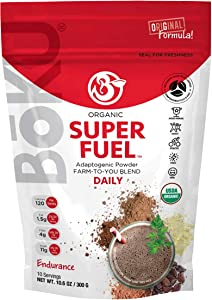 BōKU Super Fuel 10.6 oz - Adaptogenic Powder Organic Superfood - 10 Servings - Complete Superfood - USDA Certified Organic Energy Drink with Adaptogens