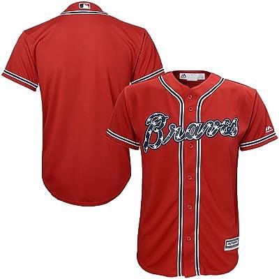 Atlanta Braves Blank Red Youth Cool Base Alternate Replica Jersey