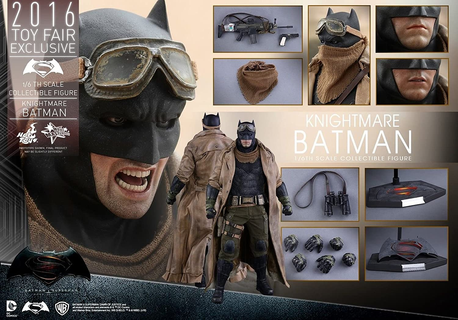 HOT TOYS 1 6 DC BATMAN V SUPERMAN MMS372 KNIGHTMARE BATMAN FIGURE 2016 FAIR EXCLUSIVE by Hot Toys