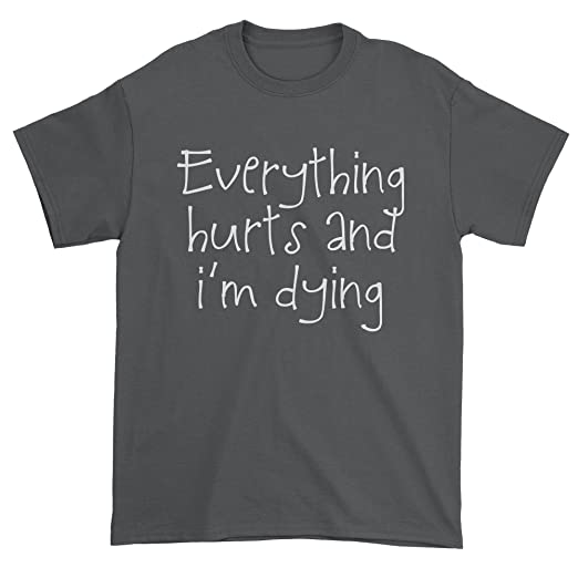 b46233d4f07ba6 Expression Tees Mens Everything Hurts and I m Dying T-Shirt Medium Charcoal  Grey