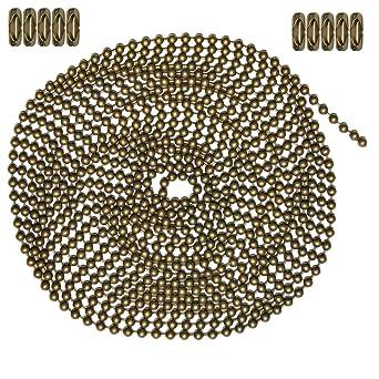 Amazon.com: Cadena de bolas de 10 pies, tamaño 6 ...
