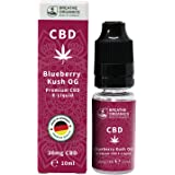 Premium CBD Liquid Blueberry Kush von Breathe Organics | CBD Liquid 30 mg | Menge 10 ml | VG max | nikotinfrei | Made in Germany | 100% natürliche Terpene