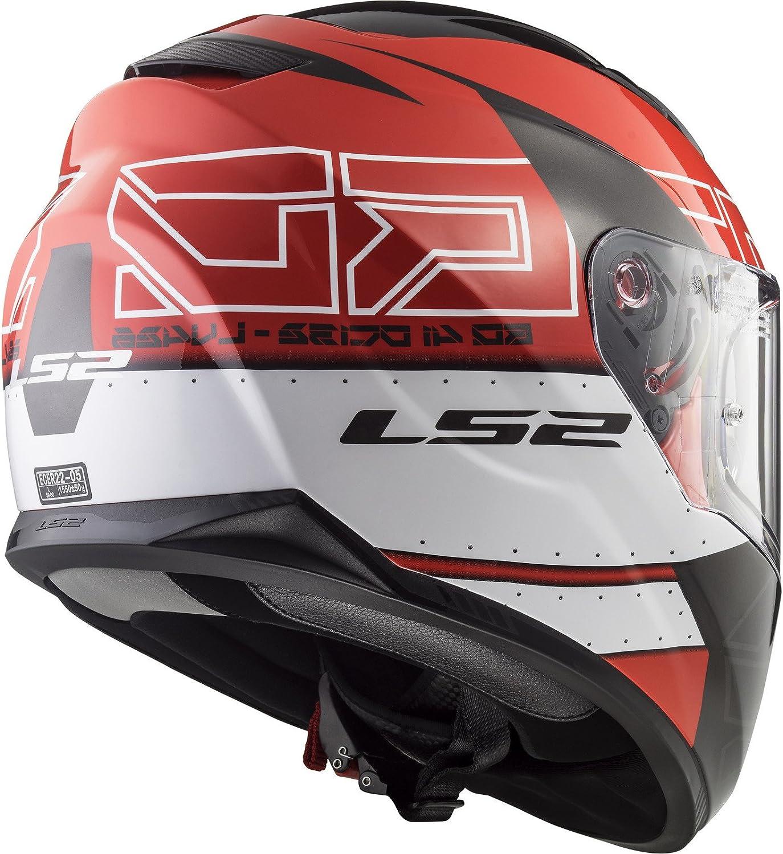 LS2 per moto con doppia visiera Red Black XXS casco Stream Evo,/FF320 1