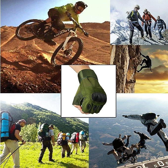 Hard Knuckle Guante de deportes al aire libre para escalar Motocicletas Ciclismo Senderismo y caza Marr/ón, M AVITY Guantes de medio dedo