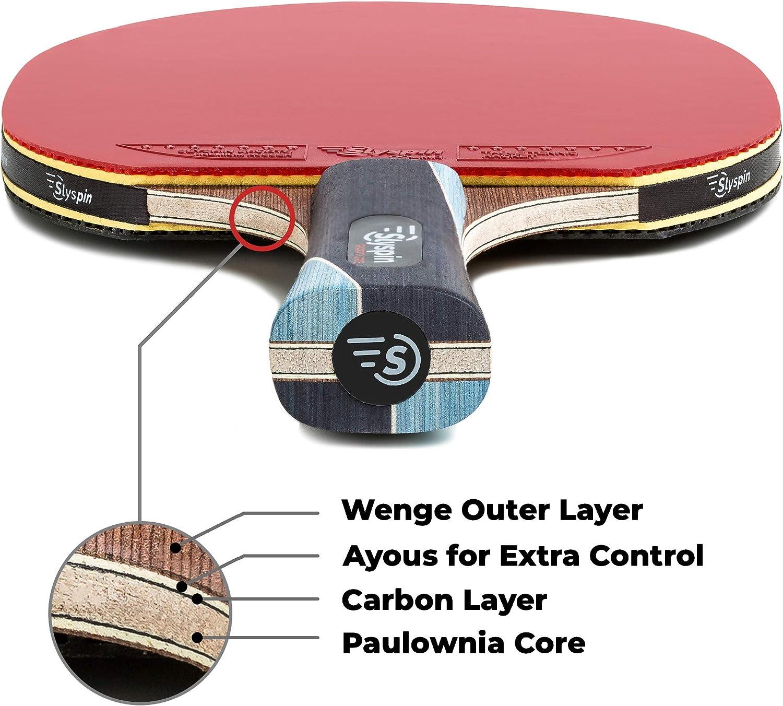 Slyspin Rapture professionnel Table Raquette De Tennis Ping Pong Paddle W Sac de rangement