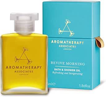 Aromatherapy Associates Revive Morning Bath & Shower Oil, 1.86 Fl Oz infused with Juniper Berry, Neroli and Grapefruit essential oils to shrug off lethargy.