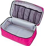 Packing Organizer Bra Underwear Storage Bag Travel Lingerie Pouch Toiletry Organizer (Rosy L)