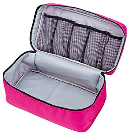 b46c78524d Amazon.com   Packing Organizer Bra Underwear Storage Bag Travel Lingerie  Pouch Toiletry Organizer (Rosy L)   Beauty