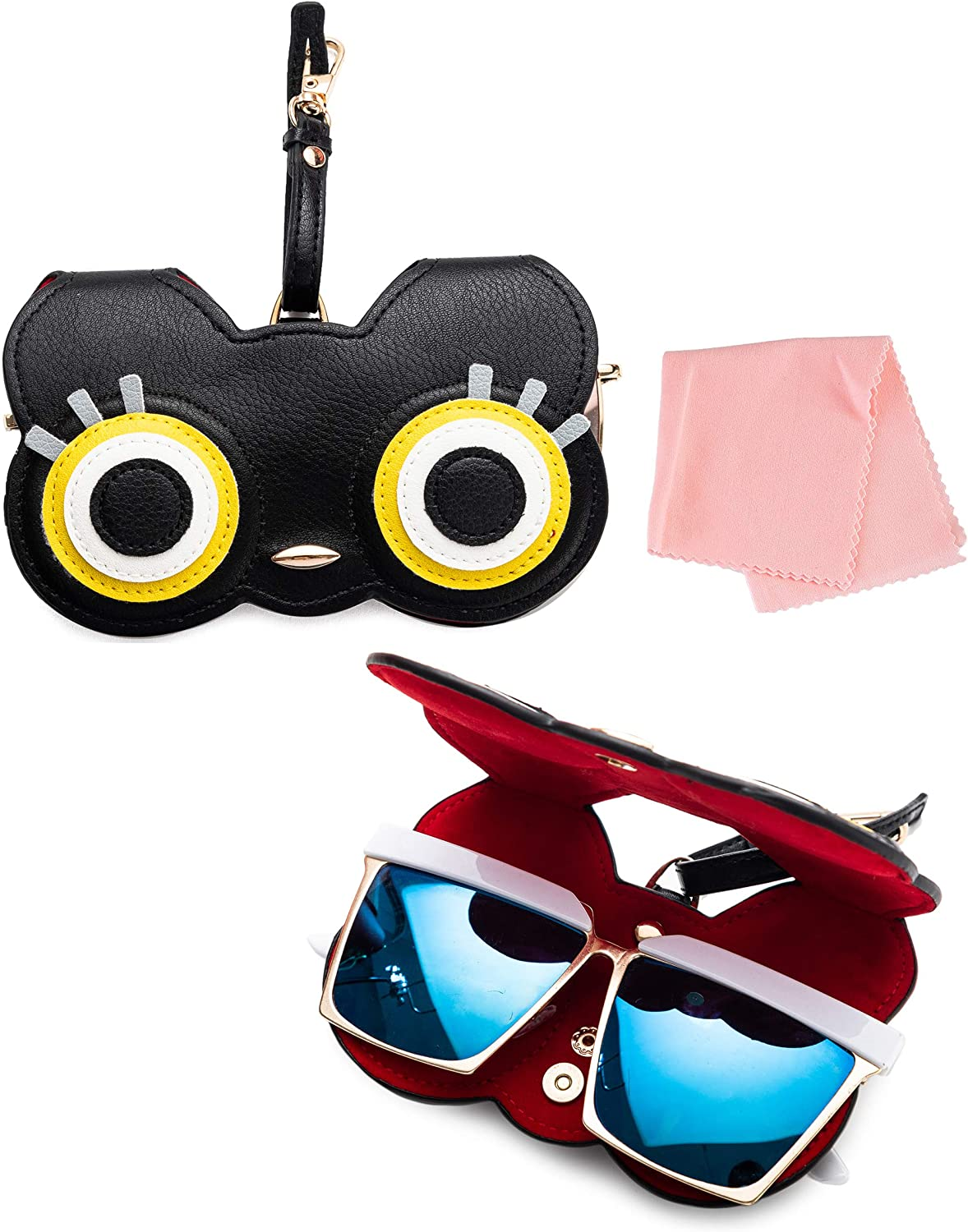 MoKo Cute Eyeglass Case Fashion Sunglasses Glasses Storage Case Bag for Women