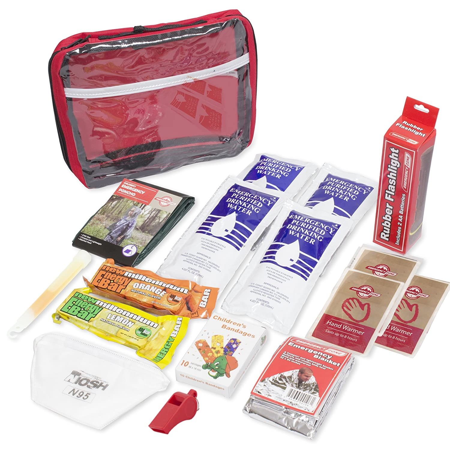 new styles 8b8a7 f62b1 Emergency Zone Keep-Me-Safe Children's Deluxe 72-Hour Emergency Survival  Kit | Perfect Way to Prepare Your Family for Disasters Like Hurricanes, ...