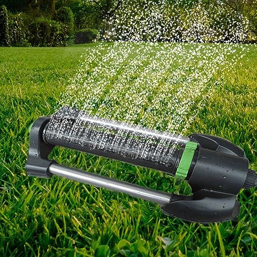 Aspersor de jardín automático para riego de césped jardín péndulo pulverizador: Amazon.es: Jardín