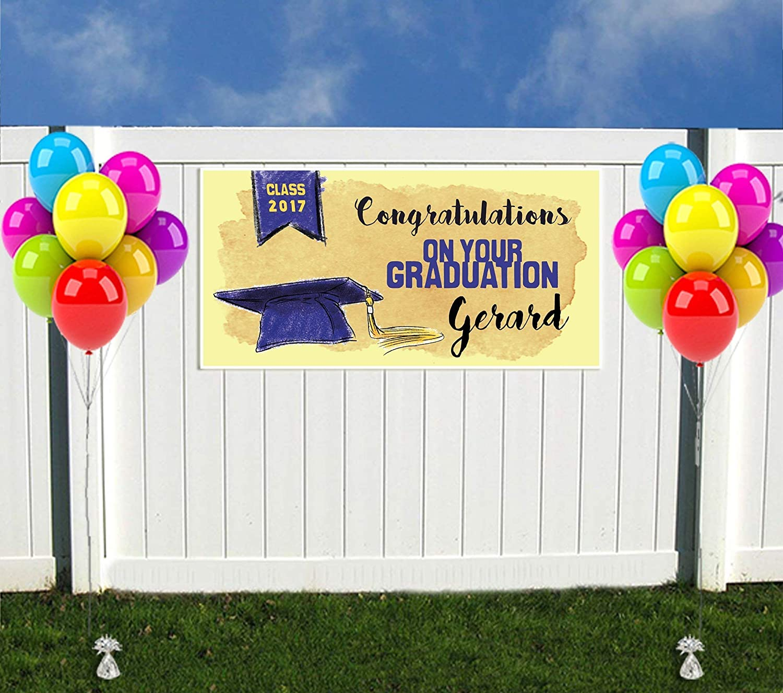 Watercolor Class of 2019 Graduation Banner