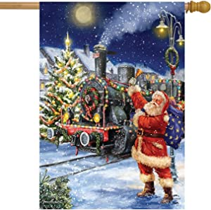 "Briarwood Lane Polar Express Christmas House Flag Santa Claus Train 28"" x 40"""