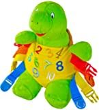 "BUCKLE TOY ""Bucky"" Turtle - Toddler Early Learning Basic Life Skills Children's Plush Travel Activity"