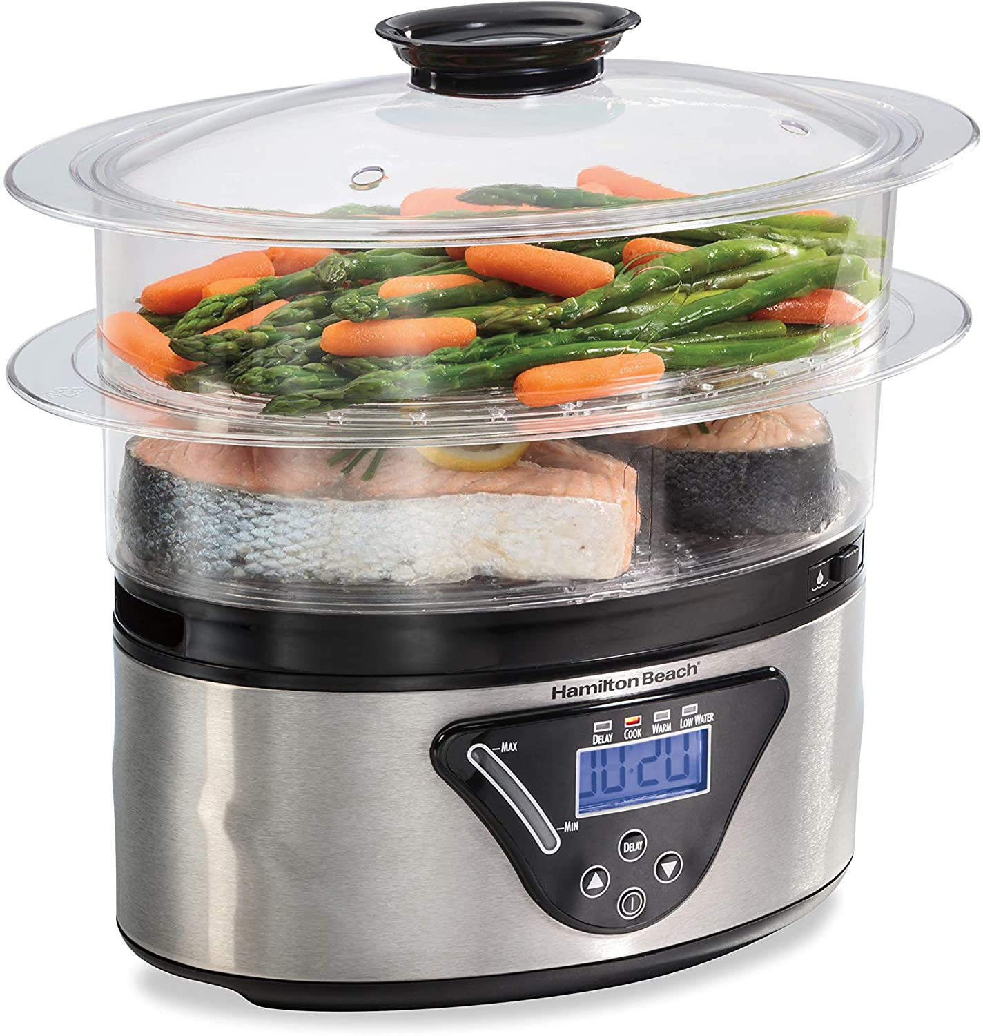 Hamilton Beach 37530A Digital Food Steamer, 5.5 Quart