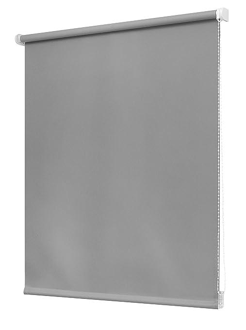 Estores Basic, Estor opaco, Gris Medio, 150x250cm, estores opacos, estores para puertas: Amazon.es: Hogar