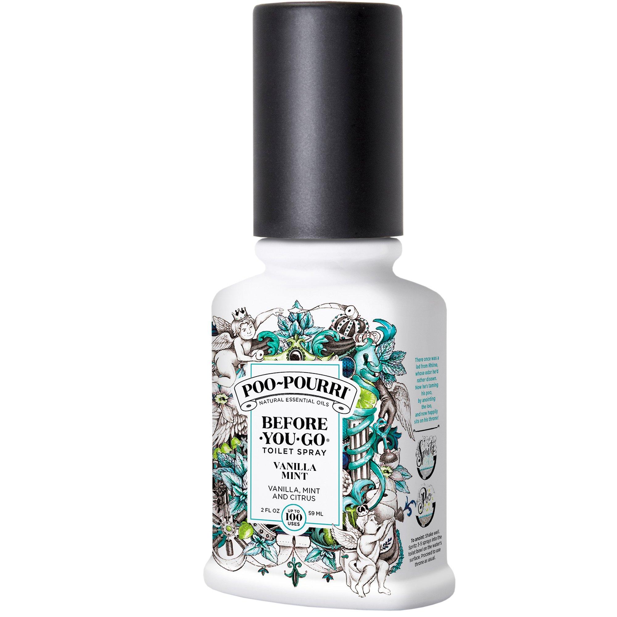 Poo-Pourri Before-You-Go Toilet Spray, Vanilla Mint Scent, 2 Fl Oz, 2 Fl Oz