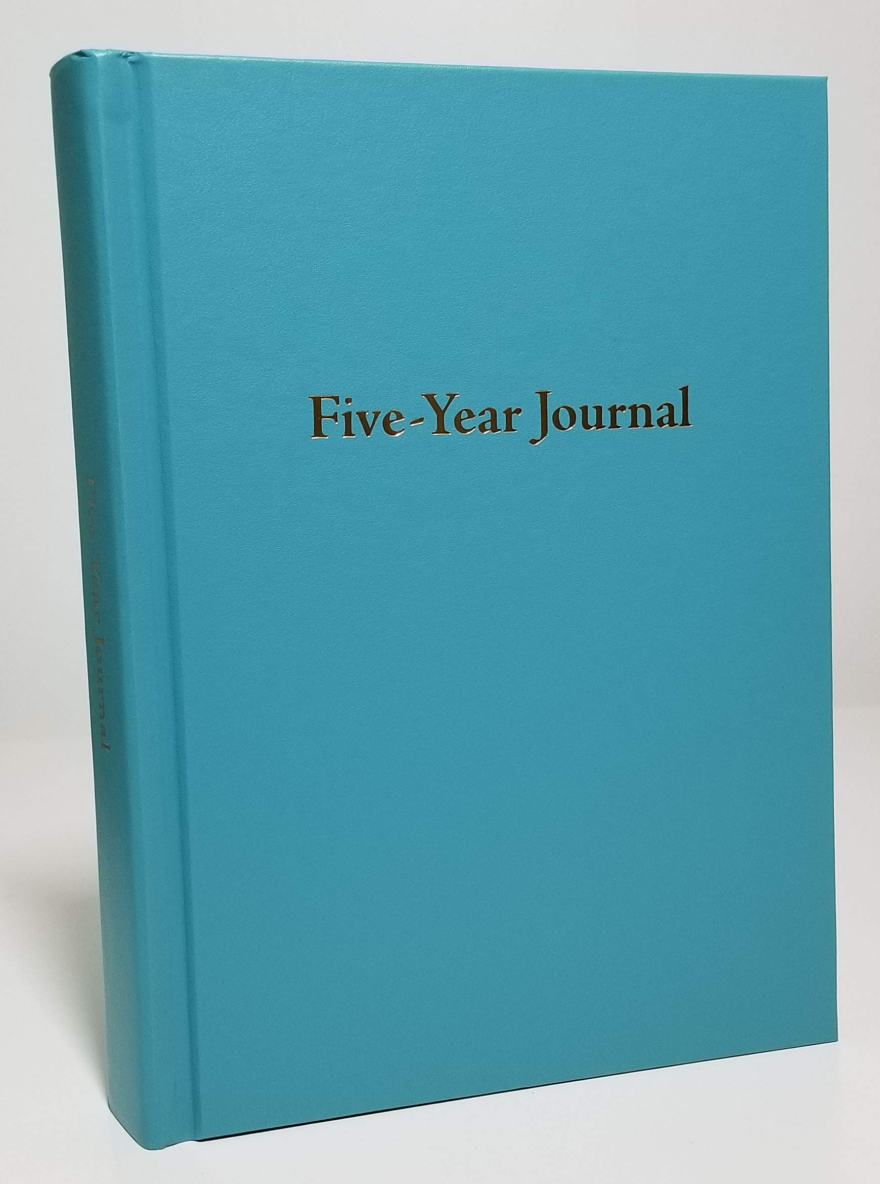 Hard Cover 5 Year Journal | The Easiest to Use Five Year Journal | Quick and Easy Five Year Daily Journal System | 6x8.25 Inch Size (Turquoise)