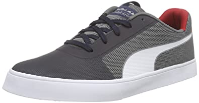505b340ae70 Puma Unisex Adults  IRBR Wings Vulc Low-Top Sneakers Blue Size  12 ...