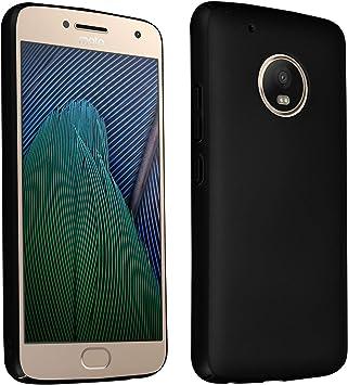Cadorabo Funda para Motorola Moto G5 Plus en Metal Negro: Amazon ...