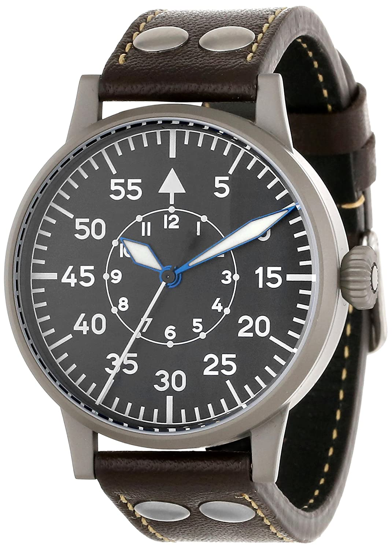 Laco 1925 Herren-Armbanduhr Laco Pilot 861749 Analog Automatik Leder Braun 861749