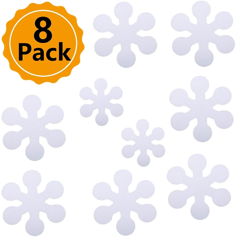 Wild Tribe 8PCS Flower Shape Anti-Slip Bathtub Stickers Safety Bath Shower Treads 4 Inch
