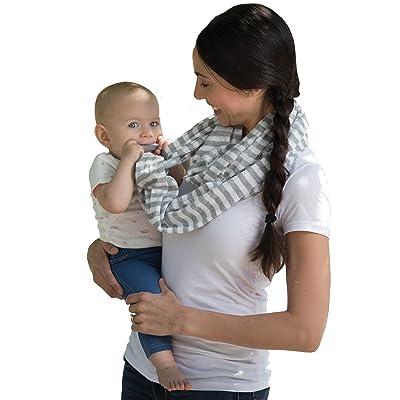 Boppy Teething Scarf, Gray and White Stripes : Baby [5Bkhe2003136]
