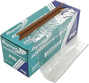 Reynolds Wrap 910 PVC Film Roll w/Cutter Box 12-Inch x 2000 ft Clear