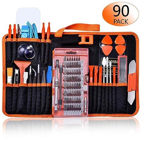 824a021da82999 GANGZHIBAO 90pcs Electronics Repair Tool Kit Professional, Precision  Screwdriver Set Magnetic for Fix Open Pry