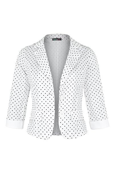 Apparel - Outlet - Chaqueta de traje - manga 3/4 - para mujer blanco