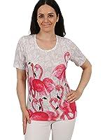 "BRILLIANT SHIRTS Damen-Shirt ""Flamingos"" | Damenmode | Damen-Shirt | Kurzarm-Shirt | Oberteile Damen | Versandkostenfrei!"