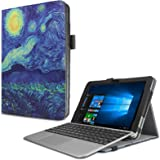 Asus Transformer Mini T102HA Custodia Case, Infiland Slim Folio in pelle Smart Ultra sottile e leggera Case Cover Custodia per Asus Transformer Mini T102HA Tablet-PC( con Auto Sonno/Veglia Funzione)(Stelle)