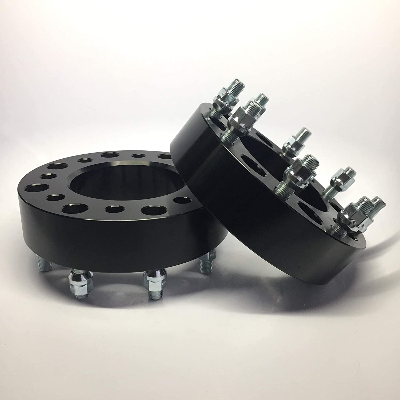 "Wheel Adapters 8 Lug 8x6.5 Chevy GMC Spacers 2.5"" Billet  lawrensongroup.co.nz"