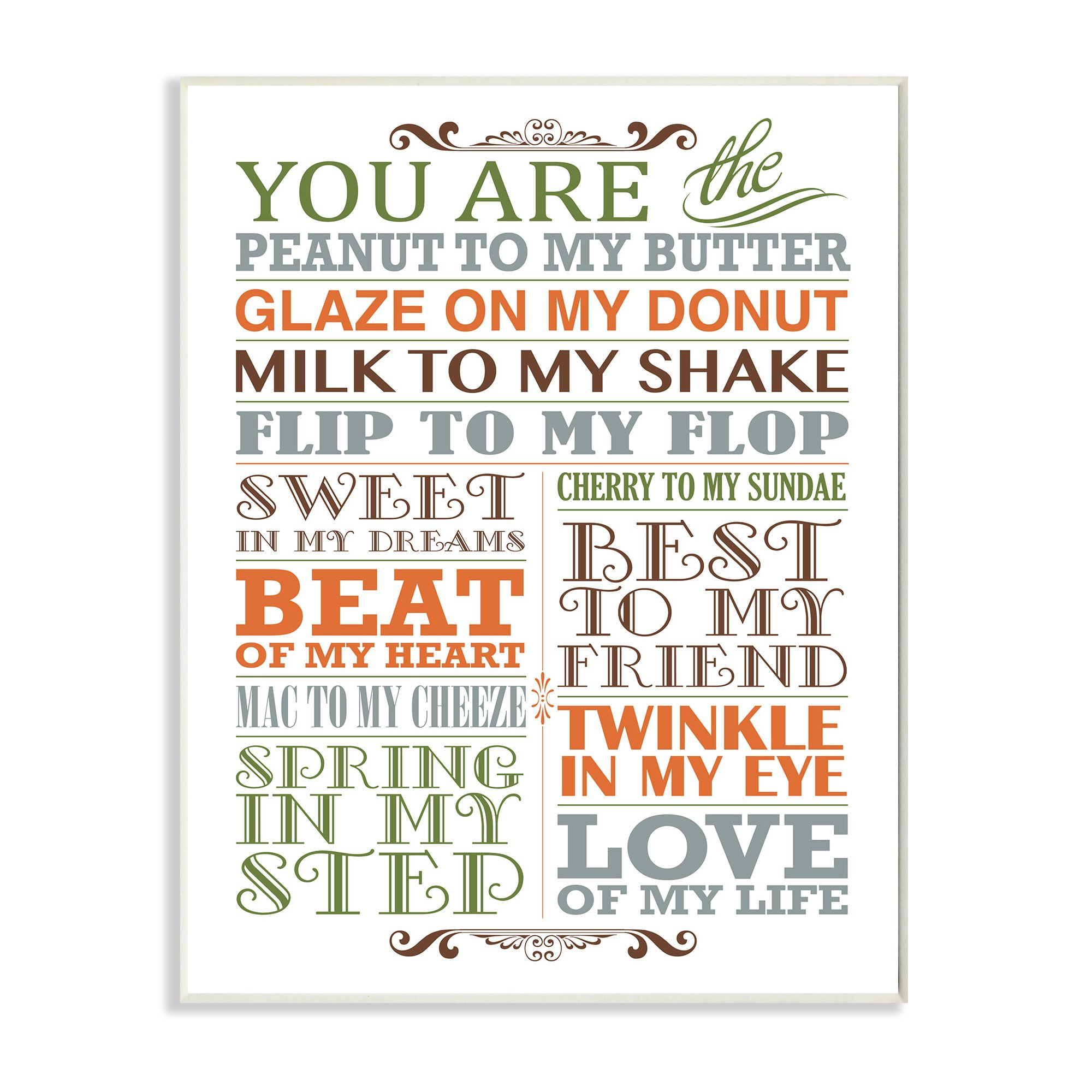 The Kids Room by Stupell You Are Peanut To My Butter Typography Art Wall Plaque, 11 x 0.5 x 15, Proudly Made in USA