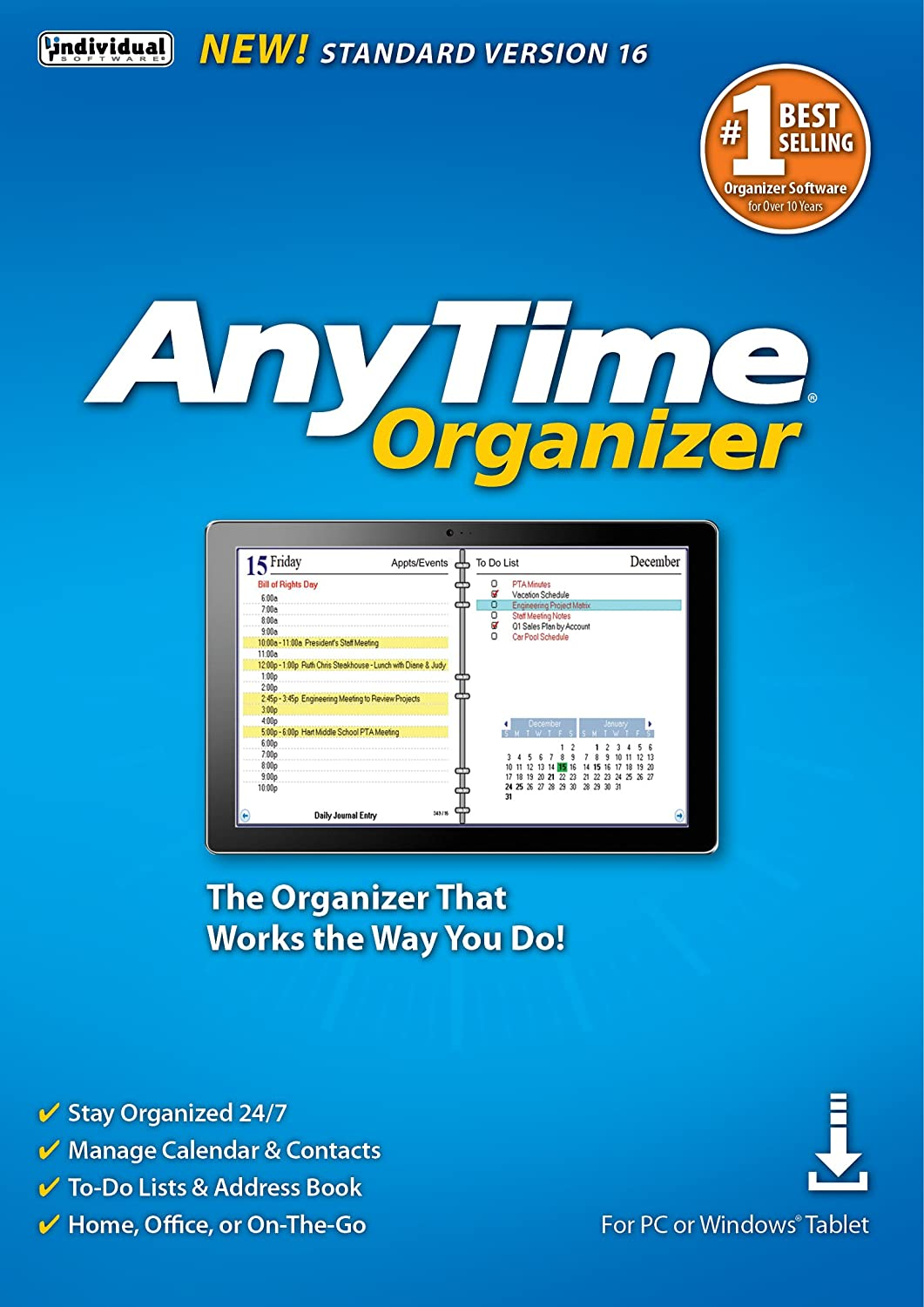 Amazon Com Anytime Organizer Standard 16 Free 30 Day Trial Pc Download Software