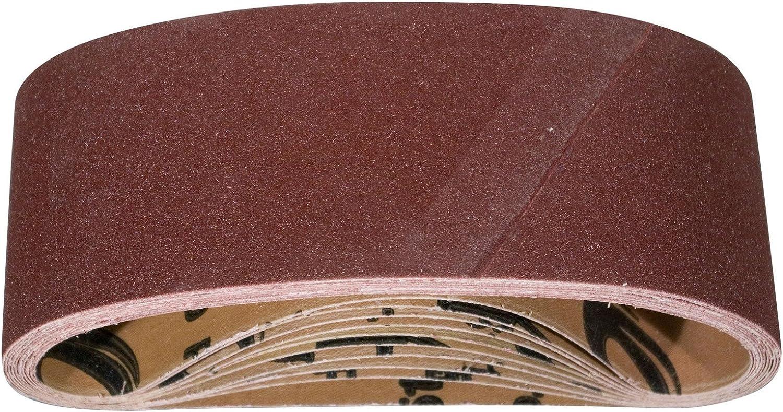 10-Pack, POWERTEC 110470 3-Inch x 21-Inch 60 Grit Aluminum Oxide Sanding Belt