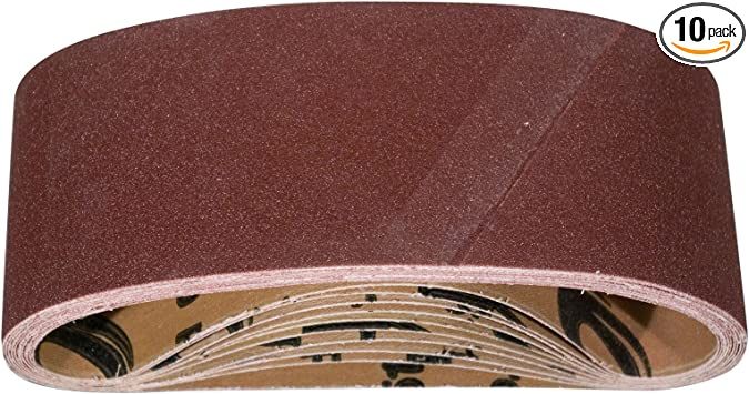 "6/"" x 89/"" Sanding Belt Kit A//O COARSE 1 each 40 60 80 100 /& 120 Grit 5 Pack"