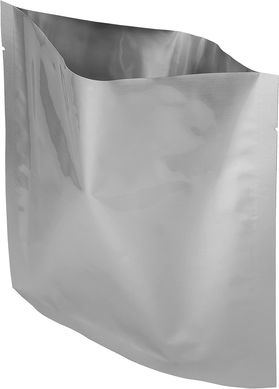 "Dry-Packs 1-Quart, 8""x8"" Mylar Moisture & Static Shielding Bags, 20 Pack-for Food Shipping & Storage, 20-1-Quart, Silver, 20 Count"