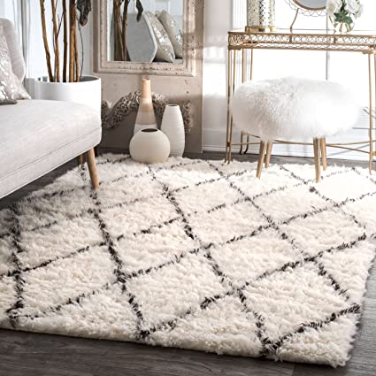 Amazon nuLOOM Handmade Moroccan Trellis Wool Shag Rug 5 Feet