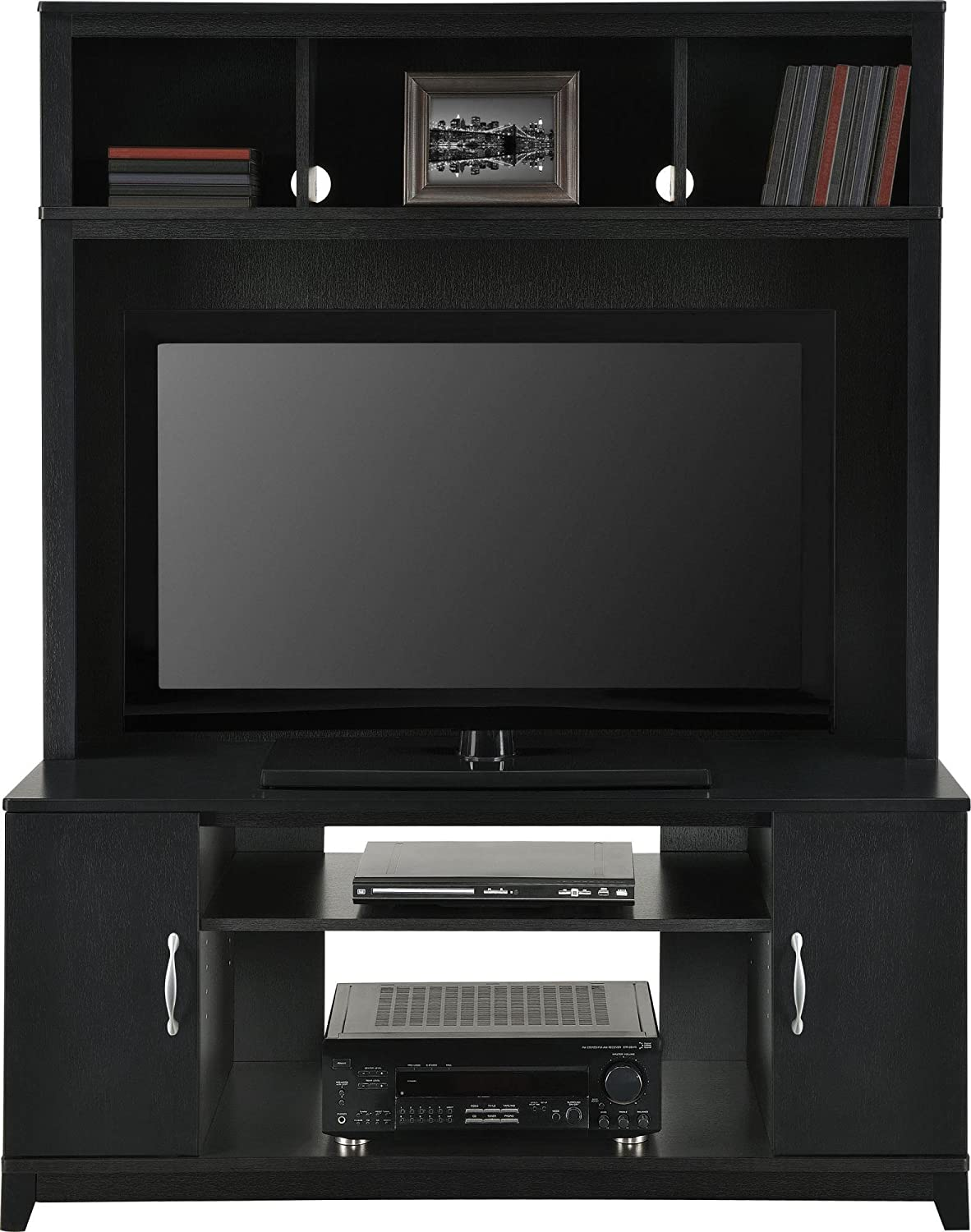 amazoncom altra woodland 42 entertainment console black kitchen dining amazoncom altra furniture ryder apothecary tv