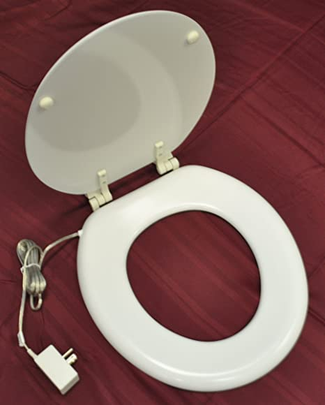 Heated Toilet Seat Amazon.Warmbunz Heated Toilet Seat White Color Round Battery