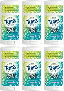 product image for Tom's of Maine Wicked Cool Deodorant, Natural Deodorant, Toms Deodorant, Girls Summer Fun, 2.25 Ounce, 6-Pack