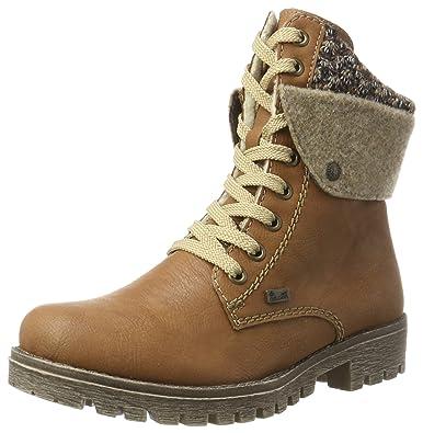 rieker Damen Schnürstiefel Braun Schuhe, Größe:40