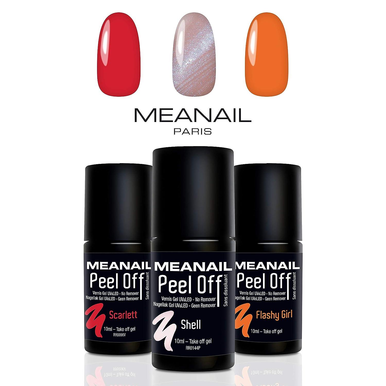 Set de Esmaltes de Uñas Gel UV LED 3 Colores Esmaltes Semipermanente Laca Soak Off Gel Nail Polish Edition Pastel Manicura y Pedicura Plastimea